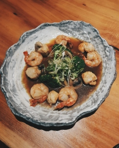 Sauteed scallops and prawns