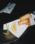 Cheese and shrimp spring rolls